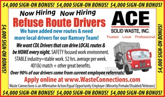 Refuse Route Drivers