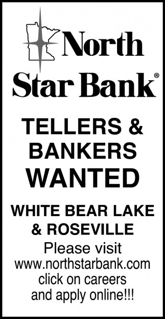 Tellers & Bankers Wanted