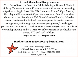 Licensed Alcohol And Drug Counselor