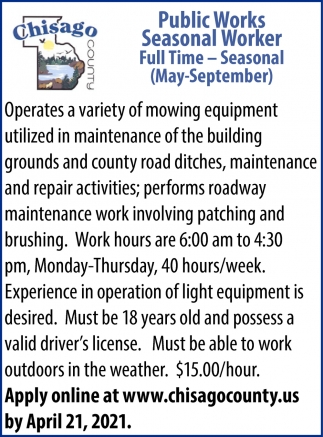 Public Works Seasonal Worker