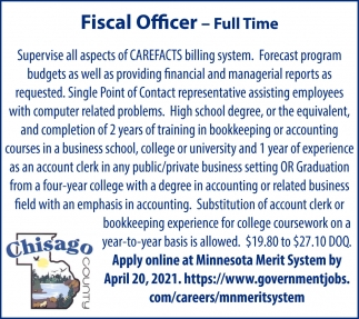 Fiscal Officer - Full Time