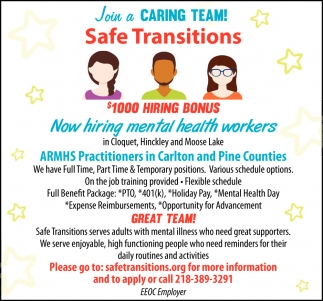 Join A Caring Team!