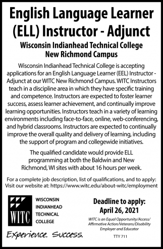 English Language Learner (ELL) Instructor