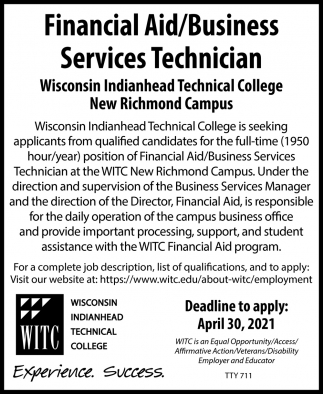 Financial Aid/Business Services Technician