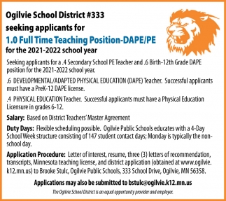 Full Time Teaching Position