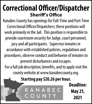 Correctional Officer/Dispatcher
