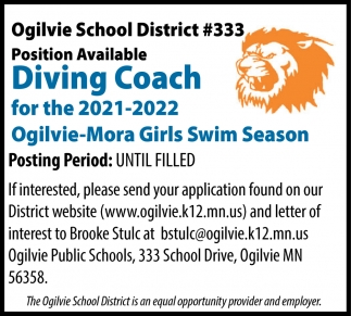 Diving Coach For The 2021-2022