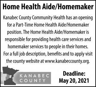 Home Health Aide/Homemaker