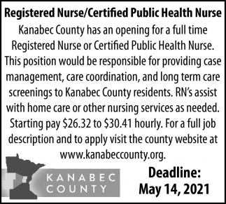 Registered Nurse/Certified Public Health Nurse