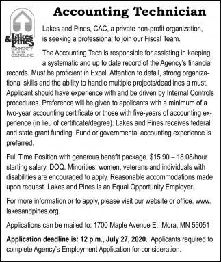Accounting Technician Needed