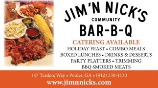 Catering Available Jim N Nick S Bar B Q Pooler Ga