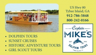 Dolphin Tours, Sunset Cruises