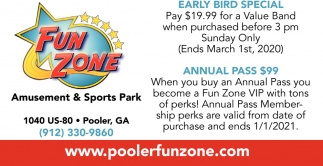 Early Bird Special, Annual Pass