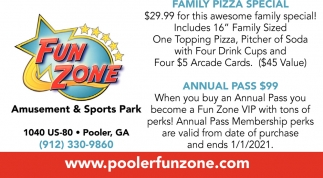 Family Pizza Special, Annual Pass