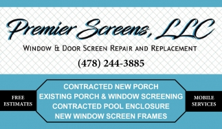 Window & Door Screen Repair and Replacement