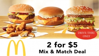 2 for $5 Mix & Match Deal