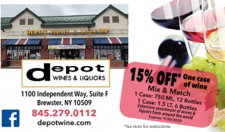 15% Off One Case of Wine