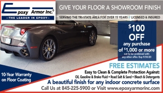 Give Your Floor A Showroom Finish