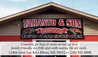 Crawfish, Po' Boys & More Served Up in a Family-Friendly, No-Frills Spot with Marine Life Art Work