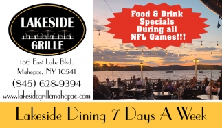 Lakeside Dining 7 Days A Week
