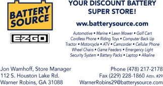 Your Discount Battery Super Store!