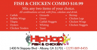 Fish & Chicken Combo $10.99