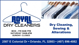 Dry Cleaning, Sewing & Alterations