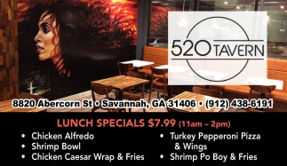 Lunch Specials $7.99 (11am - 2pm)