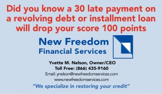 We specialize in restoring your credit