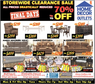 Storewide Clearance Sale Home Decor Mattress Furniture Outlets Niagara Falls Ny