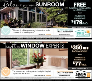 Relax In Your New Sunroom