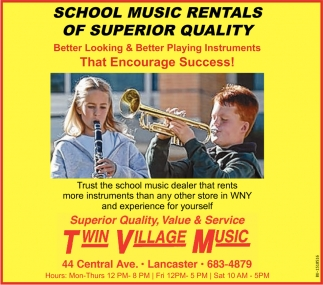 School Music Rentals Of Superior Quality