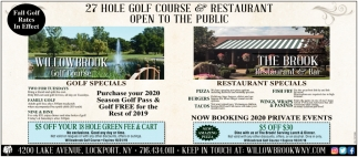 27 Hole Golf Course & Restaurant Open To The Public