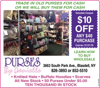 Trade In Your Old Purse For Cash
