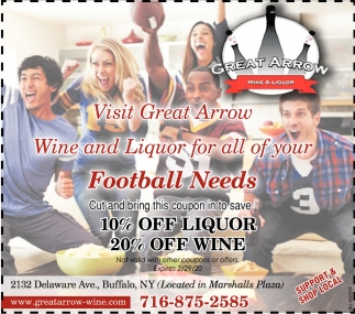 Wine And Liquor For All Of Your Football Needs