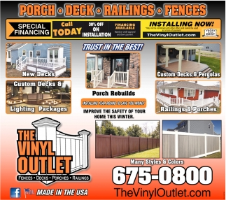 Railings, Decks, Fences & Porches