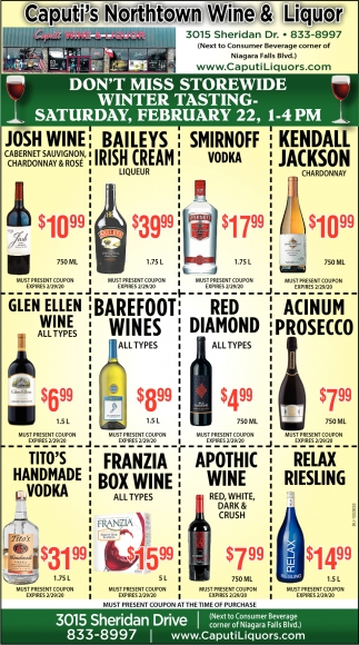 Don't Miss Storewide Winter Tasting