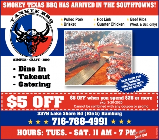 Smokey Texas BBQ Has Arrived In The Southtowns!