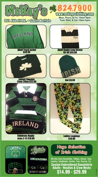 Huge Selection Of Irish Clothing