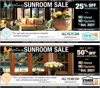 Spring Sunroom Sale