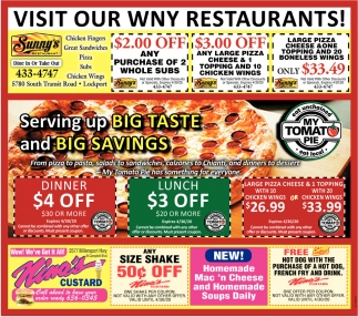 Visit Our WNY Restaurants!