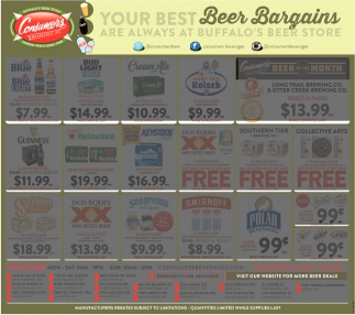 Your Best Beer Bargains Are Always At Buffalo's Beer Store