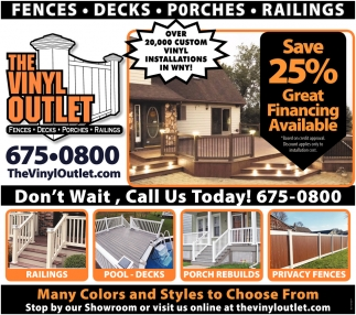 Porches - Decks - Railings - Fences