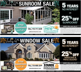 July 4th Sunroom Sale