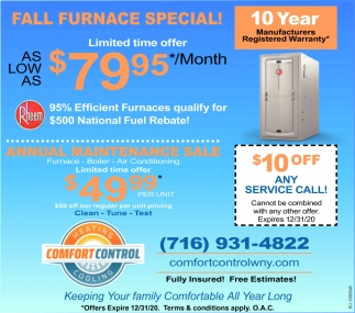 Fall Furnace Special!