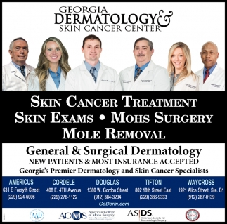 Skin Cancer Treatment Georgia Dermatology Skin Cancer Center Cordele Ga