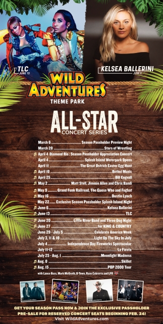 All-Star Concert Series, Wild Adventures Theme Park, Valdosta, GA