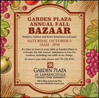 Annual Fall Bazaar