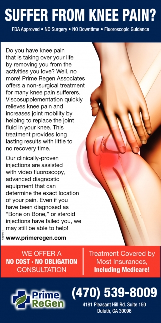 Suffer from Knee Pain?