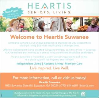 Welcome to Heartis Suwanee